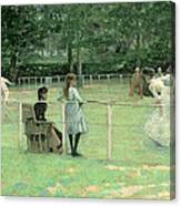 The Tennis Party Canvas Print