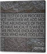 The Test Of Our Progress Canvas Print