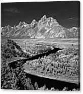 309217-the Teton Range From Snake River Overlook Canvas Print
