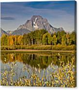 The Tetons And Fall Colors Canvas Print