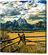The Tetons Canvas Print