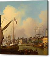 The Thames And Tower Of London On The King's Birthday Canvas Print