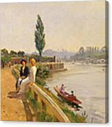 The Thames At Hampton Court Canvas Print