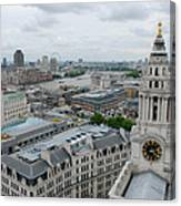 The Thames From St Paul's Canvas Print