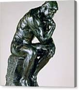 The Thinker, 1880-81 Canvas Print