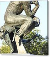 The Thinker Cleveland Art Statue Canvas Print