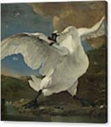 The Threatened Swan, Jan Asselijn Canvas Print