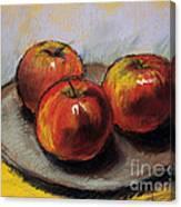 The Three Apples Canvas Print