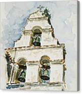 The Three-bell Campanario At Mission San Juan Bautista  Canvas Print