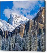 Cathederal Rocks And Bridalveil Canvas Print
