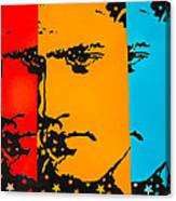 The Three Faces Of Elvis Canvas Print