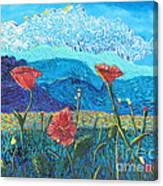 The Three Poppies Canvas Print