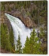 The Thundering Lower Yellowstone Falls Canvas Print