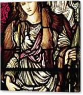 The Tibertine Sibyl In Stained Glass Canvas Print