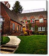 The Tke House On The Wsu Campus Canvas Print