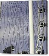 The Top Section Of The Marina Bay Sands As Seen Through The Spokes Of The Singapore Flyer Canvas Print