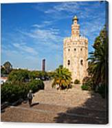 The Torre Del Oro, Gold Tower, Military Canvas Print