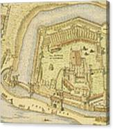 The Tower Of London, From A Survey Made Canvas Print