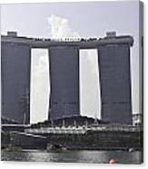 The Towers Of The Iconic Marina Bay Sands In Singapore Canvas Print