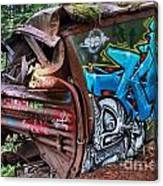 The Train And The Tree Canvas Print