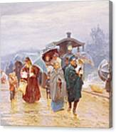 The Train Has Arrived, 1894 Canvas Print