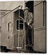 The Train Robber Canvas Print