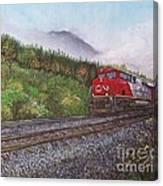 The Train West Canvas Print