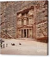 the treasury Nabataean ancient town Petra Canvas Print