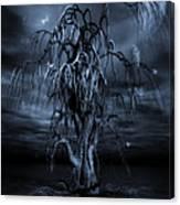 The Tree Of Sawols Cyanotype Canvas Print