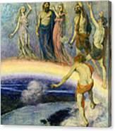 The Trek Of The Gods To Valhalla Canvas Print