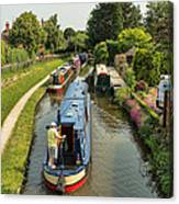The Trent And Mersey Canal At Alrewas Canvas Print