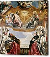 The Trinity Adored By The Duke Of Mantua And His Family Canvas Print