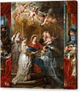 The Triptych Of Saint Ildefonso Altar Canvas Print