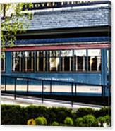 The Trolley Stop - Hotel Fiesole Canvas Print