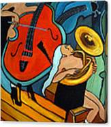 The Tuba Player Canvas Print