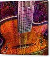 The Tuning Of Color Digital Guitar Art By Steven Langston Canvas Print