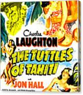 The Tuttles Of Tahiti, Us Poster, Top Canvas Print