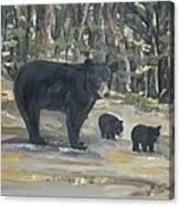 Cubs - Bears - Goldilocks And The Three Bears Canvas Print
