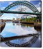 The Tyne Road Bridge With The Sage Canvas Print