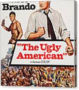 The Ugly American, Us Poster Art, Eiji Canvas Print