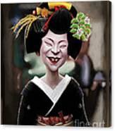 The Ugly Geisha Canvas Print