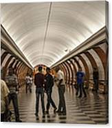The Underground 1 - Victory Park Metro - Moscow Canvas Print
