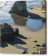 The Unexplored Beach Canvas Print