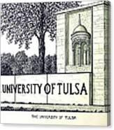 The University Of Tulsa Canvas Print