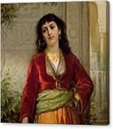 The Unwelcome Companion , C.1872-73 Canvas Print