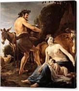 The Upbringing Of Zeus Canvas Print