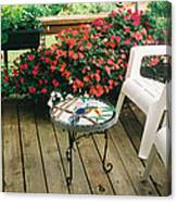 The Upper Deck With Stain Glass Table Canvas Print