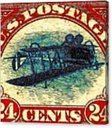 The Upside Down Biplane Stamp - 20130119 Canvas Print