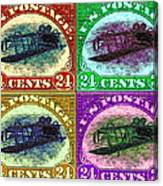 The Upside Down Biplane Stamp Four - 20130119 Canvas Print