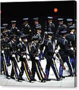The U.s. Army Drill Team Performs Canvas Print